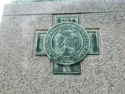 Spanish American War Memorial - South Side image. Click for full size.