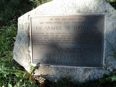 Holt's Trail Marker image. Click for full size.