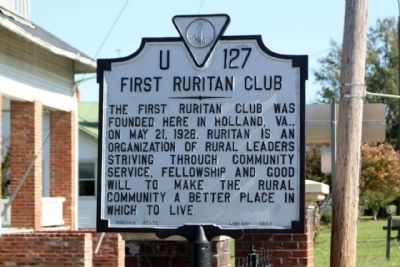 First Ruritan Club Marker image. Click for full size.