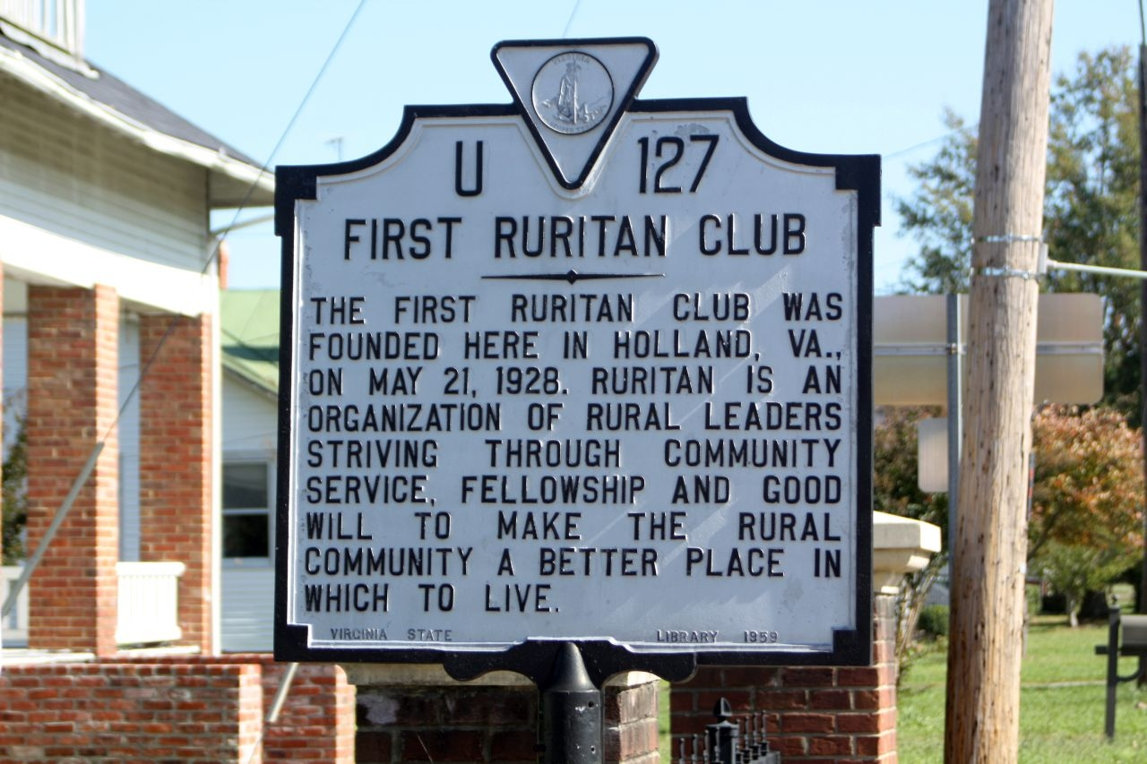 First Ruritan Club Marker