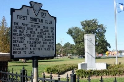 First Ruritan Club Marker and Memorial image. Click for full size.