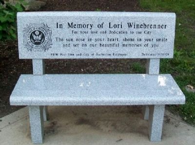 Bench at Barberton Military Honor Roll image. Click for full size.