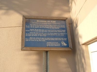 Melbourne Ice Plant Marker image. Click for full size.