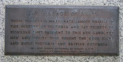 The Parade of Ships Key Plaque image. Click for full size.