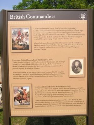 British Commanders Marker image. Click for full size.