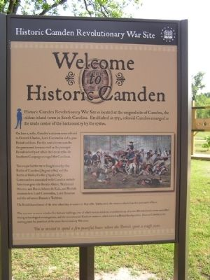 Historic Camden Revolutionary War Site Marker image. Click for full size.