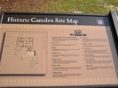 Historic Camden Revolutionary War Site Map image. Click for full size.