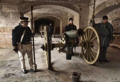 Artillery Battery at Fort Point image. Click for full size.