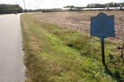 Gumboro Hundred Marker,looking south on Millsboro Highway (Delaware Route 24) image. Click for full size.