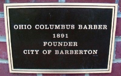 Ohio Columbus Barber Marker image. Click for full size.