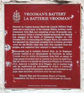 Vrooman's Battery Marker image. Click for full size.