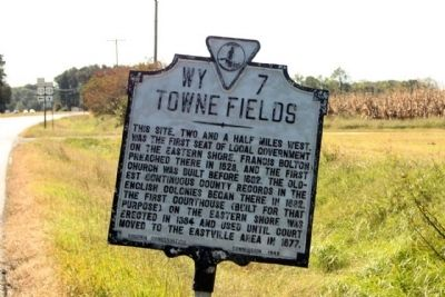 Towne Fields Marker image. Click for full size.