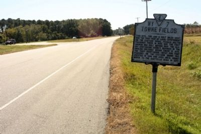Towne Fields Marker, looking soutbound US 13, Charles M Lankford Jr. Memorial Highway image. Click for full size.