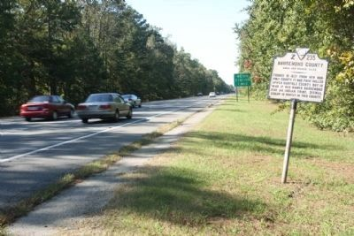 Nansemond County / Norfolk County Marker, looking west along US 58, US 13 image. Click for full size.