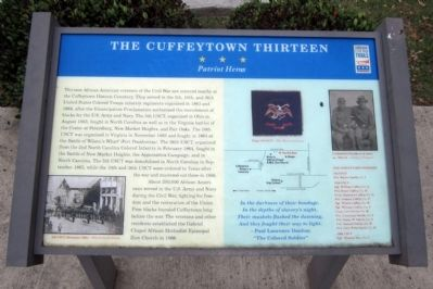The Cuffeytown Thirteen CWT Marker image. Click for full size.