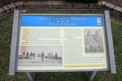 Seven Patriot Heroes CWT Marker image. Click for full size.