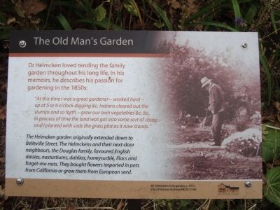 The Old Man's Garden Marker image. Click for full size.