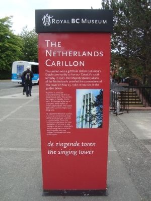 The Netherland Carillon Marker - Side A image. Click for full size.