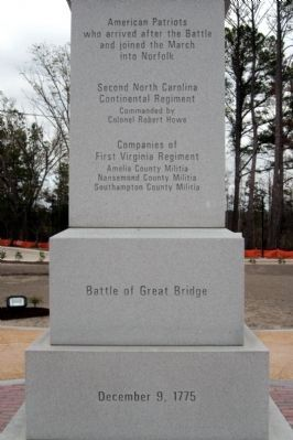 Battle of Great Bridge DAR Monument image. Click for full size.