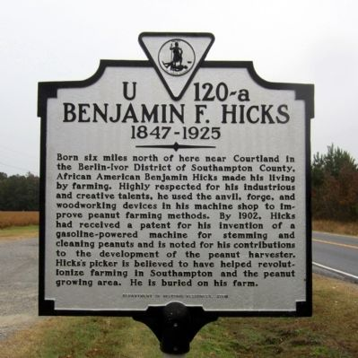 Benjamin F. Hicks Marker image. Click for full size.