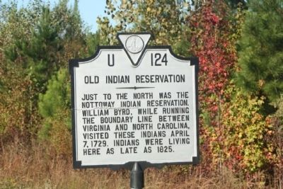 Old Indian Reservation Marker image. Click for full size.