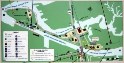 Great Bridge Battlefield & Waterways Park Map image. Click for full size.