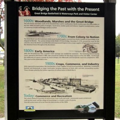 Bridging the Past with the Present Marker image. Click for full size.