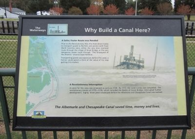 Why Build a Canal Here? Marker image. Click for full size.