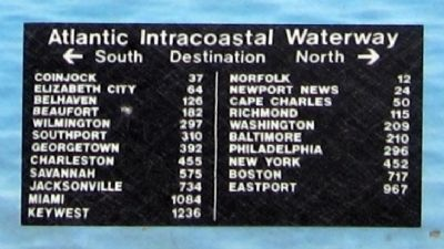 Atlantic Intracoastal Waterway Destinations image. Click for full size.