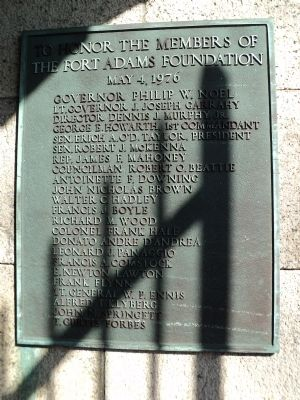 Fort Adams Foundation Marker image. Click for full size.