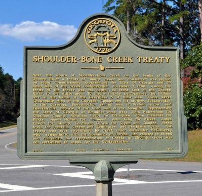 Shoulder-bone Creek Treaty Marker image. Click for full size.