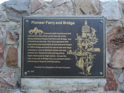 Pioneer Ferry and Bridge Marker image. Click for full size.