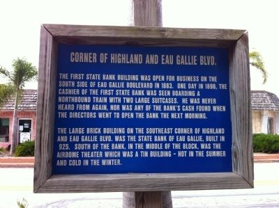 Corner of Highland and Eau Gallie Blvd. Marker image. Click for full size.