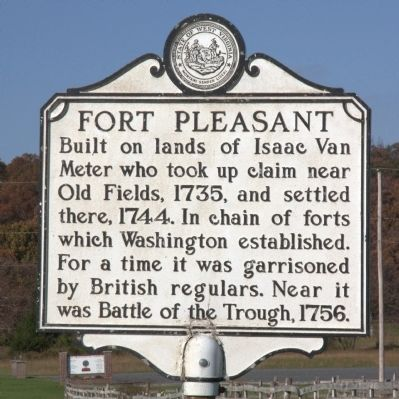 Fort Pleasant Marker image. Click for full size.
