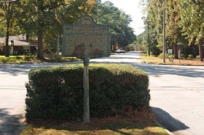 Birthplace of General Joseph Wheeler Marker at Aumond Road and Wheeler Road intersection image. Click for full size.