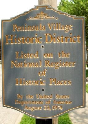Peninsula Village Historic District Marker image. Click for full size.