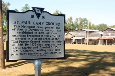 St. Paul Camp Ground and Marker image. Click for full size.
