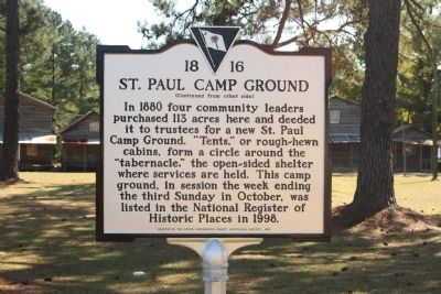 St. Paul Camp Ground Marker, Reverse side image. Click for full size.