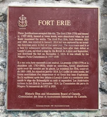Fort Erie Marker image. Click for full size.