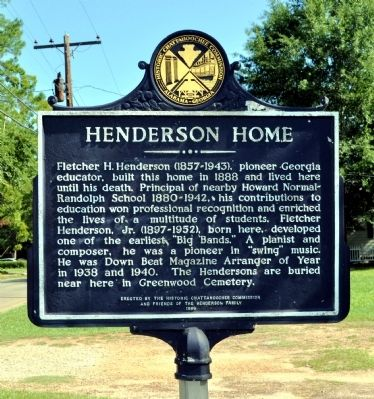 Henderson Home Marker image. Click for full size.