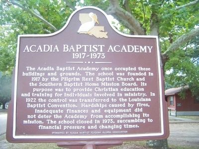 Acadia Baptist Acadamy Marker image. Click for full size.