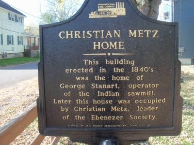 Christian Metz Home Marker image. Click for full size.