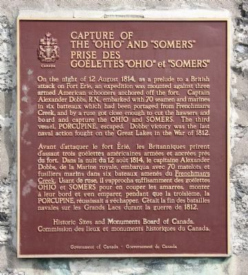 "Capture of the ""Ohio"" and ""Somers"" Marker image. Click for full size."