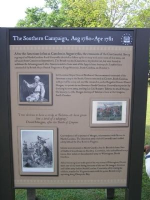 The Southern Campaign, Aug 1780 - Apr 1781 Marker image. Click for full size.
