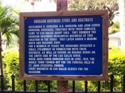 Hodgson Brothers Store and Boatways Marker image. Click for full size.