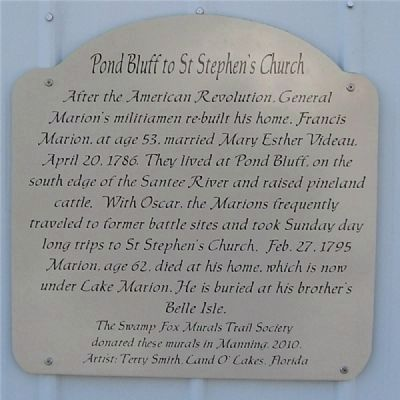 Pond Bluff to St Stephens Marker image. Click for full size.