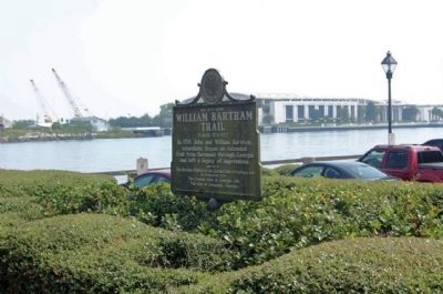 William Bartram Trail Marker along the Savannah River image. Click for full size.