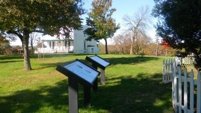 """The DeButts Family Comes to Maryland"" and ""Mount Welby"" Marker Panels image. Click for full size."
