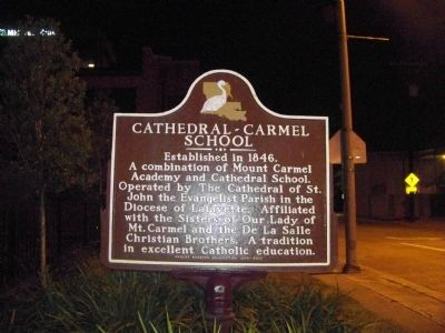 Cathedral-Carmel School Marker image. Click for full size.
