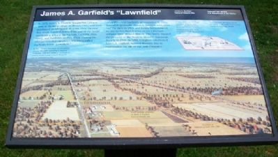 "James A. Garfield's ""Lawnfield"" Marker image. Click for full size."